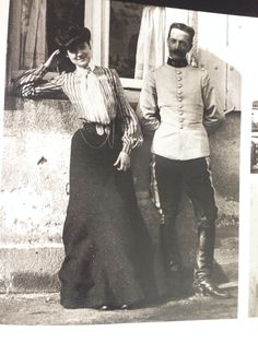 1903 Coco, in Moulins 1903 -- with one of her many admirers, Etienne Balsan