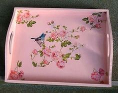 Beautiful tray from Modge Podge site on Facebook