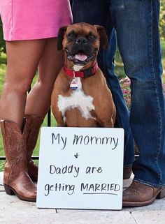 This is what we should have had Izzy and Barney do when we announced our wedding!!! :-)