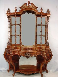 rosewood marble-top etagere, double-stack (circa attributed to Daniel Pabst) Decor, Furniture Decor, Victorian Style Furniture, Victorian Decor, Victorian Furniture, Victorian Home Decor, Vintage Furniture, Carved Furniture, Beautiful Furniture