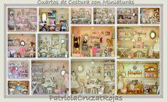 Cuadros CUARTOS DE COSTURA, con Miniaturas.
