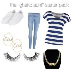 Ghetto aunt starter pack