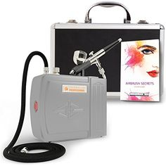 The Complete Airbrush Makeup, Cosmetic and Tattoo Professional Spray Gun Mini Compressor Kit for Multi Purpose Air Brushing: Make up, Body Paint, Temporary Tattoos, Nail Art Paints Machine and more ** Click image to review more details.