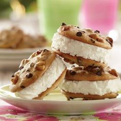 Honey Walnut Ice Cream Sandwiches