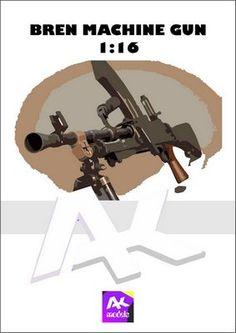 Bren machine gun 1:16 paper model