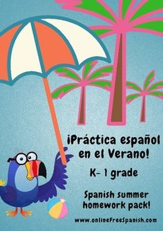 Spanish Summer Homework Pack for Kindergarten (Rising First Graders) in Spanish! This summer homework packet is designed to strengthen bilingual or dual language students who have completed kindergarten and will be entering first grade. This pack contains 195 pages that include, games, problem-solving and coloring pages, you can also use some of the pages in your