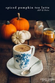 Spiced Pumpkin Tea Latte (AIP, Paleo, Low FODMAP, Vegan)