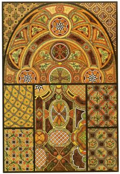 From the 1887 book by Heinrich Dolmetsch: 'The Treasury of Ornament'. 070