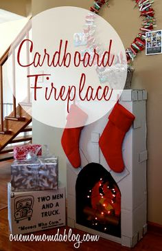 Welcome to my Cardboard Creations page, inspired by TWO MEN AND A TRUCK ® of course! Our franchise had the opportunity to do . Halloween Fireplace, Christmas Fireplace, Diy Fireplace, Fireplaces, Christmas Projects, Christmas Crafts, Christmas Decorations, Holiday Decor, Christmas Ideas