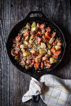 Roasted Sweet Potatoes with Rosemary, Almonds + Parmesan  | edibleperspective.com