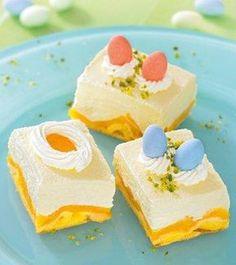 Pfirsich-Quark-Schnitte zu Ostern