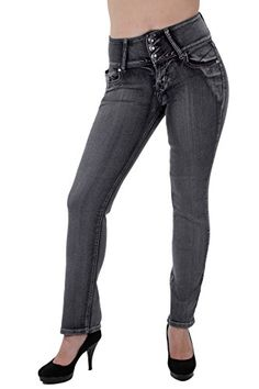 8d575e9281cf Amazon.com  Style C582P – Plus Size High Waist Butt Lifting Stretch Boot  Leg Jeans  Clothing