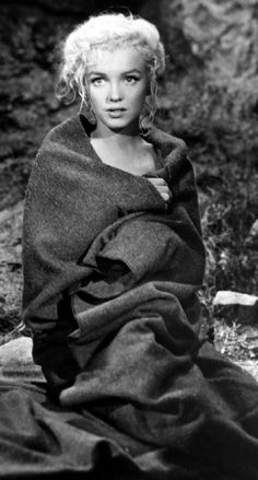 """Marilyn on the set of """"River of No Return"""""""