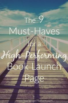 How to plan a book launch when you have no fans the 9 must haves for a high performing book launch page malvernweather Image collections