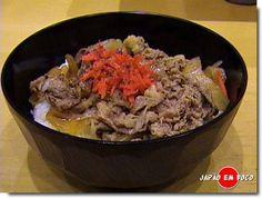 Receita de Gyudon (Arroz com carne)