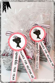 """Teacher Gift Idea, thanks for helping me """"sparkle"""" this year-- give teacher a basket of sparkly office supplies !"""