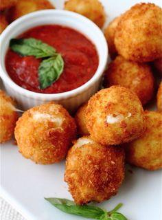 Fried Mozzarella Balls — Moms Need To Know ™ #mjotabarbosa