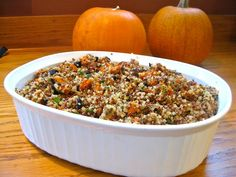 Quinoa Stuffing Recipe - for a healthy, gluten-free Thanksgiving! This is the one for 2014!