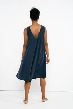 Harlow Dress in Silk Crepe