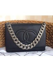 Chanel Flap Bag With A CC signature In Black ab554dda816da