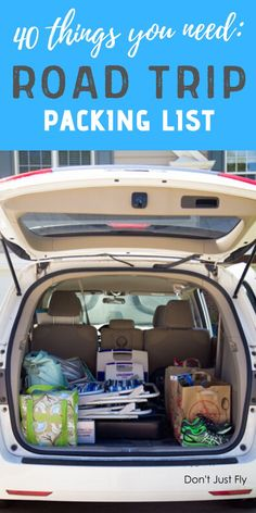 Don't miss your free printable road trip packing list and 40 things you won't want to forget to take on your next family trip with the kids.