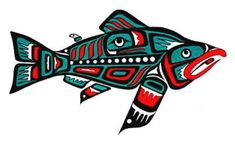 Pix For > Native Salmon Art