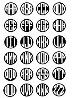 circle monogram background font