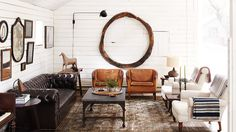 rustic and chic living room