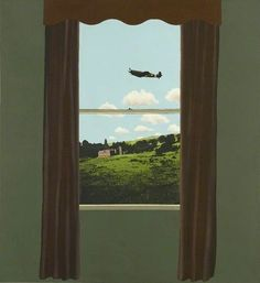 Window by David Inshaw Peter Blake, Landscape Paintings, Landscapes, Looking Out The Window, European Paintings, Window View, Through The Window, Country Artists, Local Artists