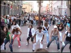 Michael Jackson - flash mob in Moscow (05.09.2009)