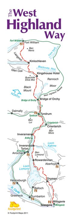 West Highland Way Map #escocia #TrekkingEuropa