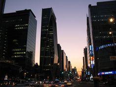 Shop in Seoul's ritzy Gangnam neighborhood.