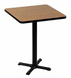 """24"""" Square Standing Height Cafe and Breakroom Table by Correll by Correll. $102.99. Cafeteria Tables Correll Cafe and Breakroom Tables feature: *1-1/4"""" high-pressure top with backer sheet and black t-mold *Cast iron black base and top spider *3"""" diameter steel column *All metal parts have textured black finish Choose from 11 finishes Ships ready for easy assembly. CALL FOR QUANTITY DISCOUNTS"""