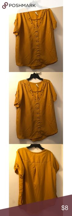 28a2e0e09 Live 4 Truth Mustard Blouse Brand new blouse, great color. Fits the arms  true to size, I have bigger arms so it didn't work for me.