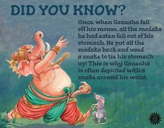 image from our title 'Ganesha and the Moon', illustration by Sundara Moorthy Hindu Vedas, Hindu Deities, Ganesha Story, Indian Culture And Tradition, Hindu Quotes, Lord Ganesha Paintings, Hindu Rituals, Scary Facts, Kids Math Worksheets