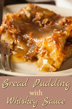 This is a rich and easy bread pudding recipe that everyone seems to love! This recipe for bread pudding with whiskey sauce makes a rich, delicious dessert that's everyone's favorite especially when served warm. Bread Pudding Sauce, Best Bread Pudding Recipe, Bread Recipes, Cooking Recipes, Bread Pudding With Whiskey Sauce Recipe, Bread Puddings, Bourbon Bread Pudding, Easy Bread Pudding, Old Fashion Bread Pudding Recipe