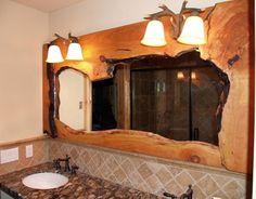 Espejos baño rustico