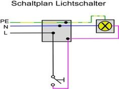 schaltplan einer kreuzschaltung mit zwei lampen diy. Black Bedroom Furniture Sets. Home Design Ideas