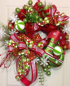 Christmas Mesh Wreath on Etsy, $129.00