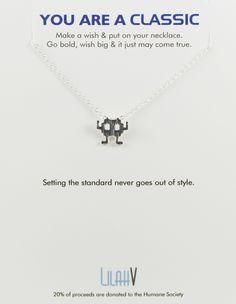 SPACE INVADERS necklace << stupid SALE >>