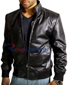Leatherobe Stylish Black Slim-Fit Leather Jacket one of the best trendy leather jacket in slim fit style to give an attractive look Leather Fashion, Leather Men, Leather Jackets, Classic Leather Jacket, Slim Fit Jackets, Mens Clothing Styles, A Team, Bomber Jacket, Winter Sale