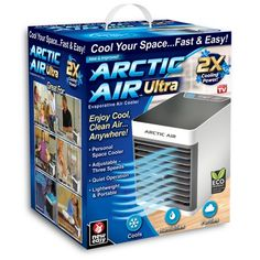 As Seen On TV - Arctic Air Ultra Portable in Home Air Cooler- View Pricing Details Here Arctic Air Ultra Portable in Home Air Cooler Are you trying to stay cool and comfortable, but you're feeling hot and sweaty? Running the air conditioner all day i Small Air Cooler, Portable Air Cooler, Camping Air Conditioner, M6 Boutique, Artic Air, Evaporative Cooler, Camper Hacks, Camper Ideas, Shopping