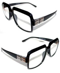 6f8c92c53dd3 Mens Women Vintage 607 Hip Hop Clear Lens Eye Glasses Run DMC Black Silver  Retro  Stars  Square