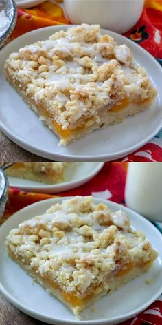 Healthy Apple Desserts, Apple Dessert Recipes, Köstliche Desserts, Baking Recipes, Delicious Desserts, Bar Recipes, Fresh Peach Recipes, Sweet Recipes, Recipes With Peaches