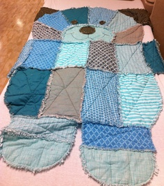 Puppy dog rag quilt by GrinsnGigglesDesigns on Etsy, $125.00