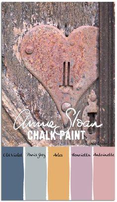 stylish patina, chalk paint, annie sloan, buy chalk paint online www.stylishpatinashop.com Color Palettes Key to my Heart in Annie SloanChalk Paint colors