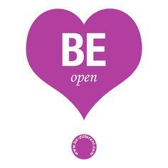 Be Open www.be-different.com Dares, Flexibility, Presents, Positivity, Joy, Logos, Simple, Unique, Creative