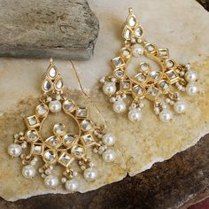 MATRIKA GOLD PLATED MUGHAL EARRINGS @ Indiatrend For $30.99USD Wirh Free Shiping World Wide