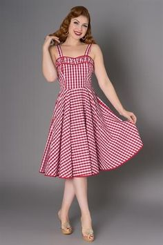 a5650429f22d Angie Red Gingham Dress by Sheen Clothing. Dresses – Modern Millie Shop