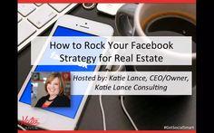How to Rock Your Facebook Strategy for Real Estate http://www.katielance.com/academyweek/ #getsocialsmart #socialmedia #facebook